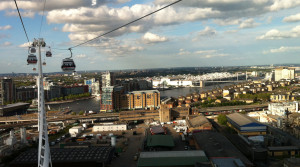 Aerial shot of newham from cable car